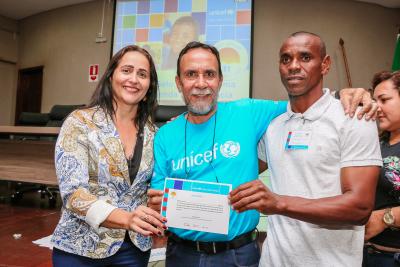 Participantes foram certificados por participação na Oficina