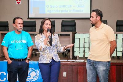 A secretária Patrícia do Amaral finalizou sua fala no evento pontuado a importância de trabalhar para agregar