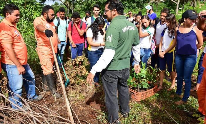 Equipe de educação ambiental do Naturatins é parceira de projeto ambiental em Tocantinópolis