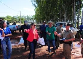 Representantes de órgãos governamentais responsáveis pela segurança na Agrotins 2018 participaram de uma visita ao Centro Agrotecnológico