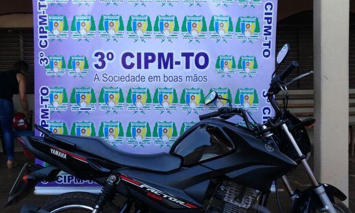 Militares recuperam moto em Colinas