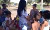 Mais de 200 crianças de invasões vizinhas às unidades socioeducativas receberam ovos de páscoa caseiros