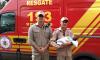 Na manhã dessa segunda-feira, 19, os bombeiros foram até a residência da família, conheceram João Vitor e constataram que mãe e filho passam bem