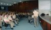 Policiais militares participam do lançamento do Edital no auditório do QCCG