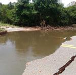 Trecho da rodovia TO – 080 interditado devido às fortes chuvas que atingiram o Estado desde o início do mês