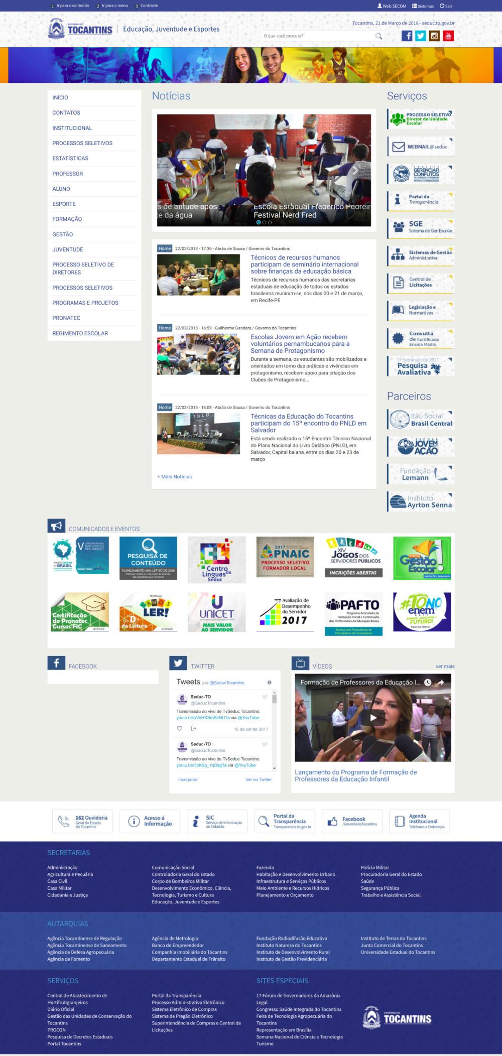 64177d4418 Novo site da Secretaria da Educação