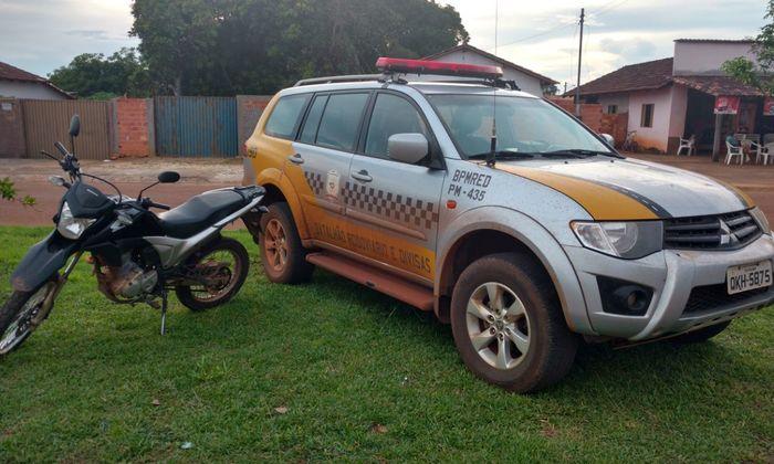 Motocicleta recuperada em Araguacema