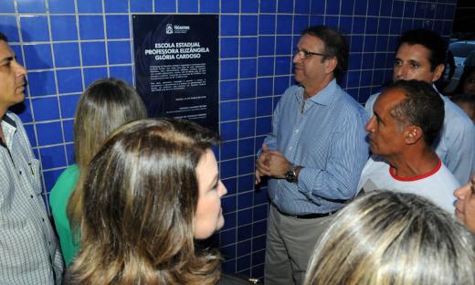 Governador Marcelo Miranda inaugurou a Escola de tempo Integral Elizângela Glória Cardoso, na noite desta segunda-feira, 26, em Palmas