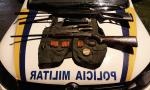 Em Palmas foram apreendidos uma espingarda de pressão calibre 5,5mm, uma cartucheira calibre 36, com 12 munições intactas, um trabuco calibre 32 com uma munição, além de outros objetos