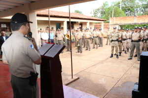 Comandante geral da PM durante a chamada geral.JPG