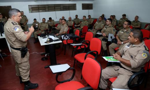 No período vespertino, segue o cronograma do encontro com os indicadores do primeiro semestre de 2018 a serem apresentados pelo comandante de cada unidade