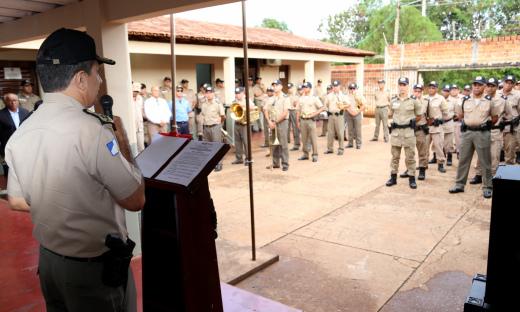 Comandante geral da PM durante a chamada geral