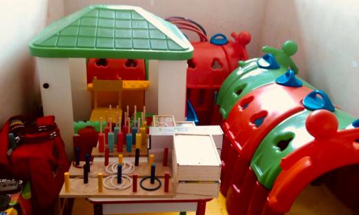Uma brinquedoteca foi instalada na Cadeia Pública do município para ser utilizada pelos reeducandos ao receberem suas famílias