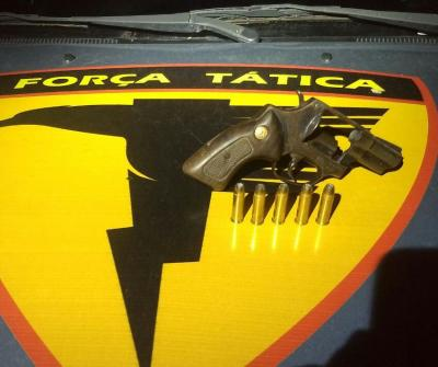 Arma de fogo e munições foram apreendidas em Esperantina pela PM