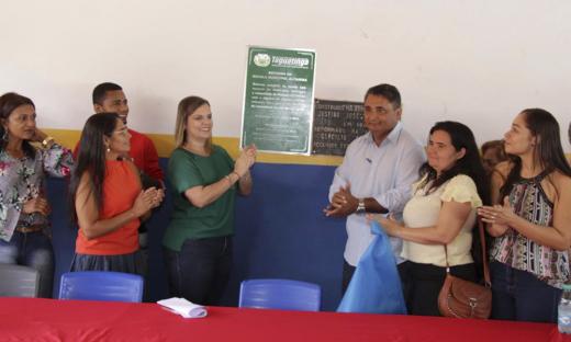 Durante o evento Cláudia Lélis fez questão de ressaltar que investimento em educação é prioridade na gestão estadual