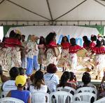 Grupo de dança Jiquitaia, formado por estudantes do Colégio Estadual Dr. Abner Araújo Paccini, realizou apresentações de sússia
