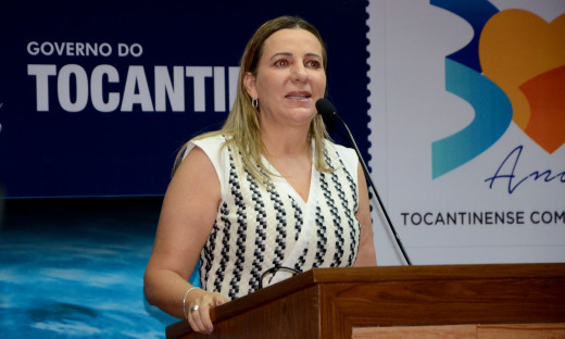 A deputada federal e primeira-dama, Dulce Miranda, acompanhou o lançamento da Agrotins