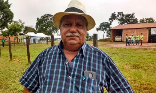 O agricultor Jairo Alves se diz satisfeito com a assistência técnica recebida pelo Governo