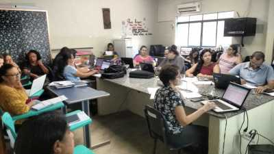 Conselho de Classe no Colégio Estadual Dr. Joaquim Pereira da Costa, em Gurupi