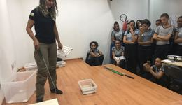 Naturatins ministra palestra sobre serpentes, para alunos do Colégio Militar de Palmas – Unidade II
