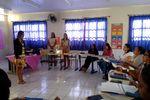 Durante a formação, estão sendo apresentados materiais pedagógicos, rotinas da sala de aula e a sistemática do programa Se Liga