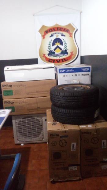 Os objetos foram recuperados após investigação policial
