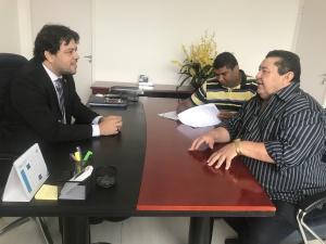 Colemar Câmara e o Prefeito Armando Alencar