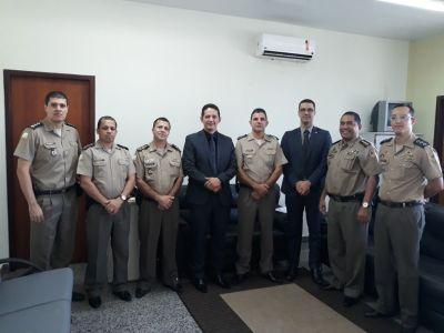 PM recebe dois integrantes da Rede Ead - Senasp, em Palmas