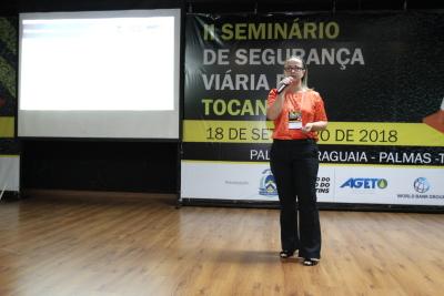 Assuntos relacionados a faixa de domínio foram apresentados e debatidos pela consultora do Banco Mundial pela Ageto, Elisa Quint, de Santa Catarina.