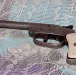 Arma de fogo artesanal apreendida pela Polícia Civil na operação