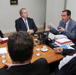Com o ministro da Saúde, Gilberto Occhi, Mauro Carlesse tratou de recursos para projetos de estabilidade os 180 dias do mandato suplementar e adiantou projetos para 2019, com investimentos na área da saúde do Estado