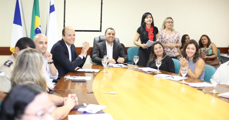 Reunião equipe da Educação Financeira e Banco Central na Seduc