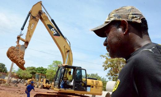 O pedreiro Geovane Cardoso Xavier, que está no Taquari desde 2012, disse que está tão feliz que acompanha de perto a obra