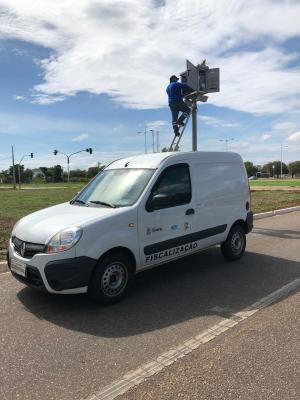Ação de fiscalização de radar