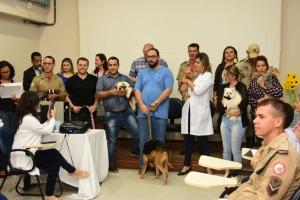Comemoração de um ano do projeto Cinoterapia, no Hospital Geral de Palmas