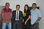 Presidente da ATR Roberval Pimenta com a equipe da ouvidoria da ATR