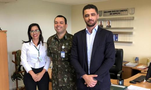 Autorização foi dada em reunião entre secretário Heber Fidelis, a major Benedita Soares de Moraes (PMTO) e o chefe do Serviço de Fiscalização de Produtos Controlados do Exército, tenente coronel Eleuson Marcos Nunes