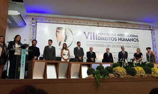 Secretário representou o governador no VIII Congresso Internacional dos Direitos Humanos, em Palmas