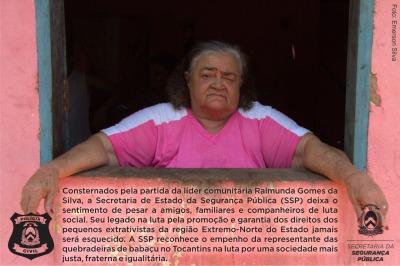 Secretaria de Estado da Segurança Pública e Polícia Civil do Estado do Tocantins prestam última homenagem à