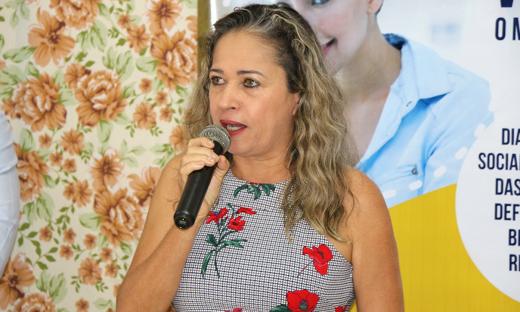 Secretária Wande Mary Oliveira falou da importância do evento na agenda da Secretaria