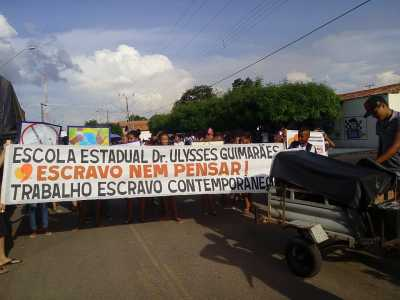 A comunidade de Esperantina também participou da ação no município