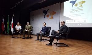 O subsecretário da SSP, Wlademir Oliveira, mediou debates relacionados à atuação do efetivo policial na promoção da paz e da tranquilidade da sociedade tocantinense