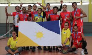 Time do Colégio Estadual Guilherme Dourado, campeão regional dos Jogos Escolares da Juventude
