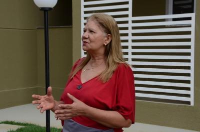 A técnica de enfermagem Luiza Dias Viana comemorou a conquista da casa própria