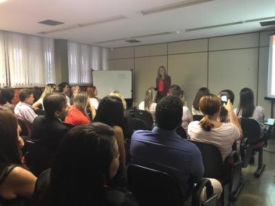 Auditório ficou lotado para acompanhar Glícia Neves