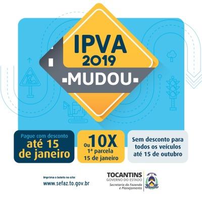 IPVA mudou para todas as placas