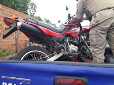 Moto recuperada pela PM em Gurupi