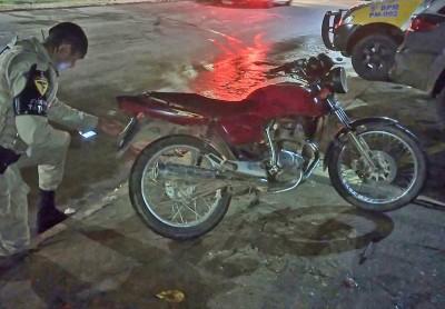 Motocicleta localizada em Pindorama