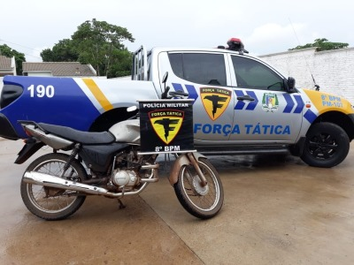 Motocicleta recuperada em Pedro Afonso
