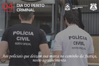 04 de dezembro. Dia Nacional do Perito Criminal